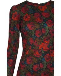 Lena Hoschek - Red Downton Winter Rose Dress - Lyst