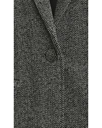 FRAME - Gray Herringbone Blazer - Lyst