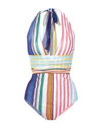 Missoni | Multicolor V-neck Halter Swimsuit | Lyst