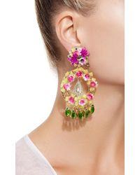 Mercedes Salazar - Blue Fiesta Flower Earrings - Lyst