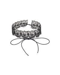 Fallon | Black Andalusia Lace Choker | Lyst