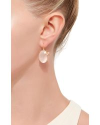 Sharon Khazzam - Pink Rose Quartz Bee Earrings - Lyst