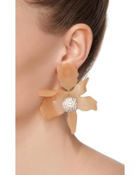 Lele Sadoughi | Metallic Crystal Lily Earrings | Lyst
