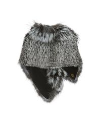 Elie Saab - Gray Leather-trimmed Fur Stole - Lyst
