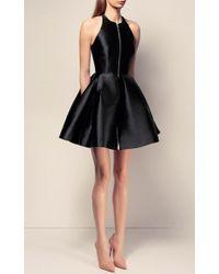 Alex Perry - Black The Delany Silk Halter Open Back Mini Dress - Lyst