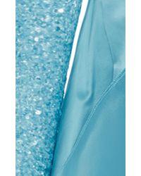 Naeem Khan - Blue Beaded V-neck Panel Gown - Lyst