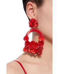 Ranjana Khan | Red Large Floral Drop Earrings | Lyst