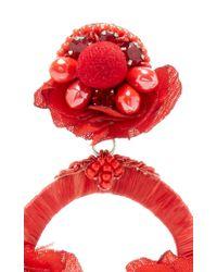 Ranjana Khan - Red Floral Embellished Drop Earrings - Lyst