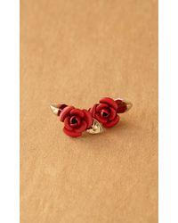 Trademark | Red Rosebud Earrings | Lyst