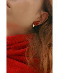 Trademark - Red Rosebud Earrings - Lyst