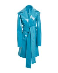Christian Siriano - Blue Rubberized Trench - Lyst