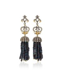 Anabela Chan - Black Midnight Tassel Earrings - Lyst