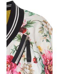 Dolce & Gabbana - Multicolor Floral-print Wrap-effect Silk Jacket - Lyst