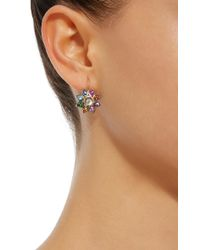 She Bee - Multicolor Rhodium-plated Rainbow Sapphire And Quartz Earrings - Lyst