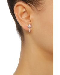 Yvonne Léon - Metallic 18k White Gold Diamond Single Earring - Lyst