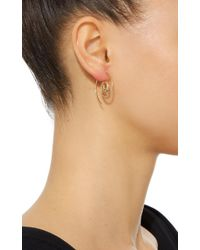 Noor Fares - Metallic Navratna Spiral Earrings In Yellow Gold - Lyst