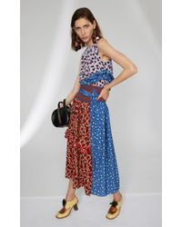 Marni - Multicolor Leather Flowers And Strass Earrings - Lyst