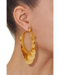 Paula Mendoza - Metallic Embera Gold-plated Brass Hoop Earrings - Lyst