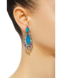 Sutra - Blue Black Opal Marquise Drop Earrings - Lyst