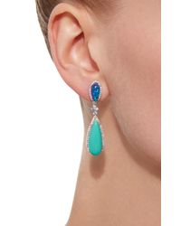 Anabela Chan | Blue 18k White Gold Multi-stone Earrings | Lyst