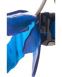 Marni - Asymmetrical Earrings With Horn In Blue - Lyst
