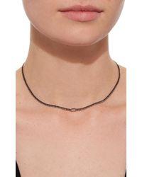 AS29 - Black Horizontal Illusion Diamond Short Necklace - Lyst