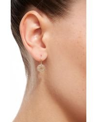 Sydney Evan   Metallic Starburst Medallion French Wire Earrings   Lyst