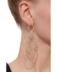 Diane Kordas - Pink Diamond Geometric Earrings - Lyst