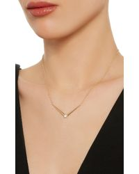Melissa Kaye - Metallic Aria V Yellow Gold Necklace - Lyst