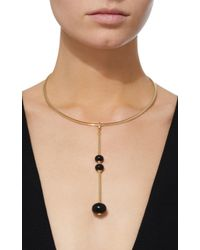Georg Jensen - Three Drop Black Jade Runa Pendant - Lyst