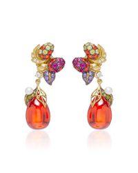 Anabela Chan | Red Goldenberry 18k Gold Vermeil Multi-stone Drop Earrings | Lyst