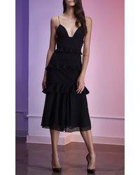 Cushnie et Ochs - Black Sofia Eyelet Dress - Lyst