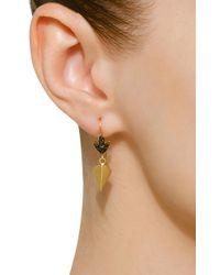 Sylva & Cie - 18k Gold Black Diamond Earrings - Lyst