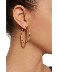 """Jennifer Fisher - Metallic 1.5"""" Baby Gold-plated Hoop Earrings - Lyst"""