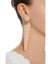 Rebecca de Ravenel - Large Twisty Pink Earrings - Lyst