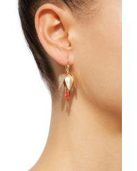Annette Ferdinandsen - Crown Imperial 18k Gold Red Coral Earrings - Lyst
