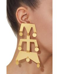 Paula Mendoza - Metallic Wounam Medium Gold-plated Brass Earrings - Lyst