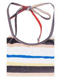 Marysia Swim - White Mott Multicolor Striped Cropped Bikini Top - Lyst