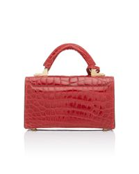Stalvey - Red Top Handle 2.0 Alligator Shoulder Bag - Lyst