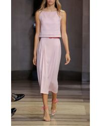 Carolina Herrera - Pink Crop Tank Dress - Lyst