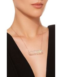 Suzanne Kalan - White One Of A Kind 18k Rose Gold Diamond And Opal Necklace - Lyst