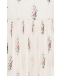 Vilshenko - Multicolor Trudy Floating Roses Long Skirt - Lyst