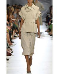 Max Mara - Natural Uva Lightweight Wool Draped Skirt - Lyst
