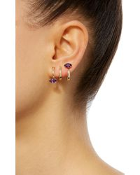 Bea Bongiasca - Purple Gloriosa Lily 9k Gold Amethyst Spiral Earrings - Lyst