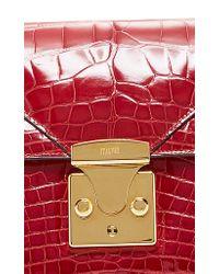 Stalvey - Red Alligator Belt Bag 2.0 - Lyst