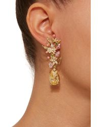 Anabela Chan - Yellow Posy Canary 18k Gold Diamond Earrings - Lyst