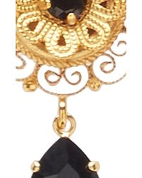 Dolce & Gabbana | Black Dark Crystal Earrings | Lyst