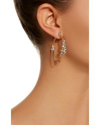 Paul Morelli - Blue Double Bubble Unity Hoops - Lyst