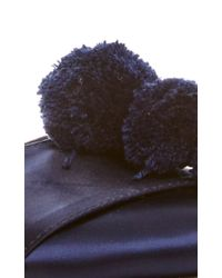 Trademark | Blue Navy Satin Pajama Sandal | Lyst