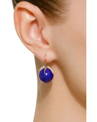 Sylva & Cie - Blue Starlight 14k Gold, Diamond And Lapis Earrings - Lyst